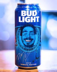 Custom Bud Light Cans Post Malone Debuts Custom Bud Light Cans