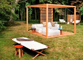 relaxing furniture. Various Beautiful Peaceful Pergola Design Ideas : Interesting Moveable Garden With Outdoor Relaxing Furniture E