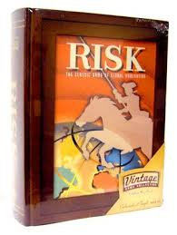 Risk Board Game Wooden Box