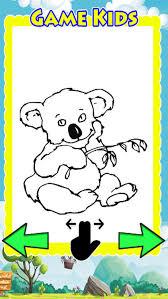 drawing games coloring book koala bear