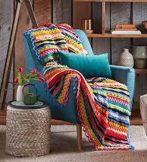 better homes and gardens blanket. Brilliant Blanket Stunning Rainbow Crochet Winter Throw U2013 Better Homes And Gardens Shop Throughout And Blanket R