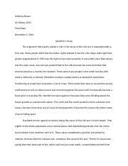 plessy v ferguson anthony brown kodi roberts african american  4 pages history final exam 1