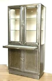 metal glass cabinet beautiful vintage medicine cabinet metal glass they storage doors full size metal wall
