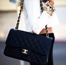 black quilted chanel purse | white top | black bottoms | gold ... & black quilted chanel purse | white top | black bottoms | gold hardware and  jewelry Adamdwight.com