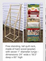 Quilt Rack with Display Shelf Wall Mounted Blanket Throw Hanger ... & Free standing, tall quilt rack, made of hard wood (poplar) with seven 1  diameter rungs - dimensions: 24 wide x deep x 65 high Adamdwight.com