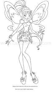 Disegno Di Flora Tynix Winx Club Da Colorare