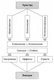 ОСНОВНЫЕ ПОДХОДЫ К ИЗУЧЕНИЮ ЭМОЦИЙ Графически классификация эмоций и чувств выглядит следующим образом Рис 1