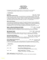 Best Of Emt Resume Sample Professional Resume Templates