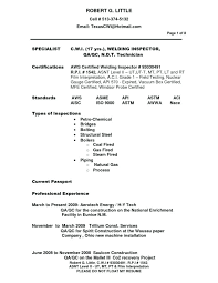 Ndt Level 2 Sample Resume