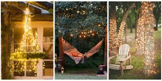 18 Backyard Lighting Ideas  How To Hang Outdoor String LightsChristmas Lights In Backyard