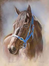horse head painting beautiful black horse head painting