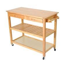 kitchen rolling cart natural wooden 3 tier kitchen rolling cart workbench with storage rolling kitchen cart