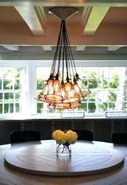 edison bulb chandelier dining room dining room lights bulb chandelier beach with bead board ceiling blue