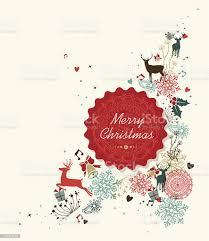 Buon Natale Vintage Etichette Illustrazione Di Cerchio - Immagini  vettoriali stock e altre immagini di Alla moda - iStock