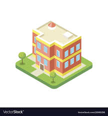 Apartment Building Isometric 3d Icon
