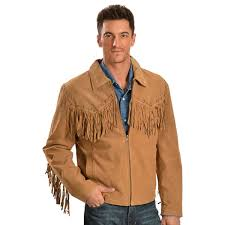 012095 scully scully fringed suede jacket fringe boar suede jacket men s western indian native american leather suede leather short length blouson