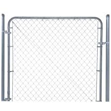 chain link fence double gate. H Galvanized Metal Adjustable Single Walk-Through Chain Link Fence Gate-3283AD60 - The Home Depot Double Gate