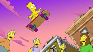 the simpsons bart simpson skateboard hd wallpaper desktop background