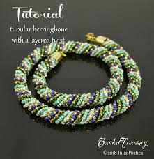 Spiral Beads Design Tubular Herringbone With A Layered Twist Beaded Textured Spiral Rope Tutorial