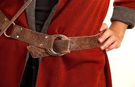 distressed cowhide belt