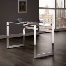 coaster furniture chrome computer desk with glass top  hayneedle