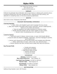 Housekeeping Resume Examples Custom Housekeeper Resume Example Example Of Housekeeping Resume