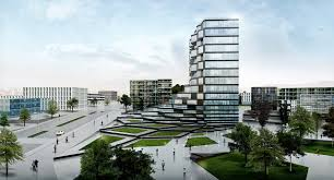 office building architecture design. Paolo Venturella-Designed Office Building To Feature Rotating Parametric Pixels,Exterior Rendering Showing Relation Architecture Design F