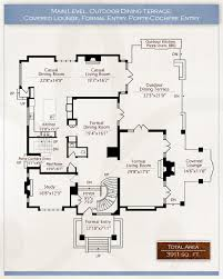 Stephen Fuller Designs  High Style Georgian ManorEstate Home Floor Plans