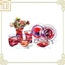 hand blown glass plates glass plates hotel decorative hand blown art red glass floor sculpture glass
