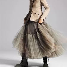 Big hemlines tulle 85cm skirt – longformaldress | Skirt fashion, Tulle  skirt fashion, Gauze skirts