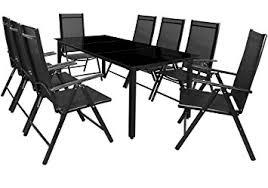 Salon de jardin - Ensemble table et chaises Bern 8 et 1 en aluminium ...