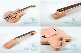 albatross gibson 335 semi hollow guitar kit