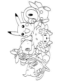 Pokemon Paradijs Kleurplaat Chimchar Turtwig Shaymin Pikachu En