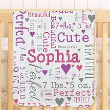 personalized baby word art throw blanket