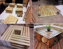 reclaimed crate coffee table