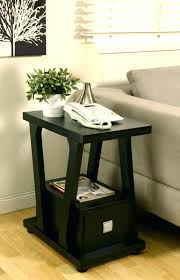 narrow side table with drawers furniture of 1 drawer contemporary black living room sofa end table narrow side small round side table with drawers