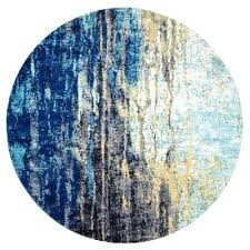 blue 8 ft x round area rug rugs 11 grey n