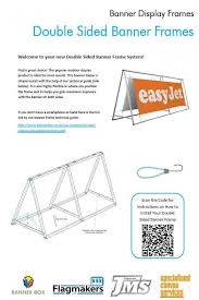 double sided banner frame from banner box installation guide