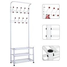 Heavy Duty Coat Rack Yaheetech Fashion Heavy Duty Garment Rack With Shelves 100Tier Shoes 87
