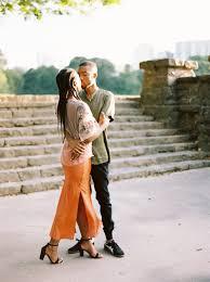 Amber & Jourdan | Vogue Inspired Engagement Session | eveyarbrough.com