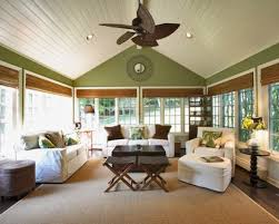 sunrooms decorating ideas with white upholstery sofa square wooden table round side tables opened display