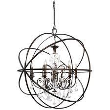 bronze orb chandelier 6 light crystal bronze sphere chandelier ii antique bronze orb chandelier