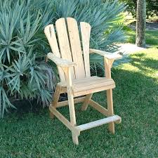 Tall Adirondack Chairs Balcony Pub Table Tall Deck Chairs With Arms