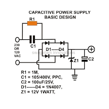 how to build a low cost and efficient transformerless power supply transformerless power supply basic circuit design image