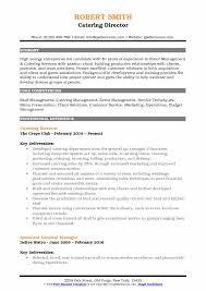 Catering Director Resume Samples QwikResume Mesmerizing Catering Resume