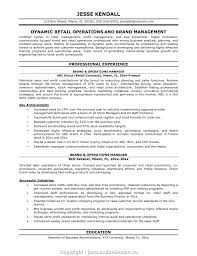 Executive Retail Operation Manager Resume Objective Transportation