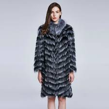 women s winter warm coat fox hair collar real fur coat furry fox hair women clothes round