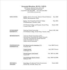 Dental Doctor Resume Free PDF Template