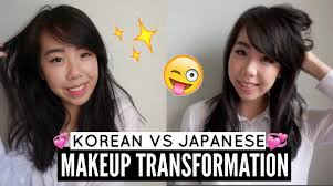 korean vs anese makeup transformation before and after video you