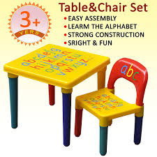tinxs kids childrens furniture alphabet learn play abc table and chair set gift secret santa co uk kitchen home